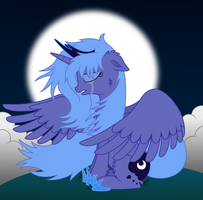 Crying Princess Luna by MacTavish1996 by MacTavish1996