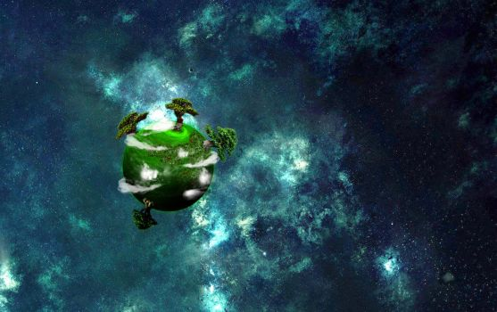 A small green planet by Zaigwast