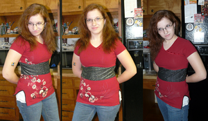 Reconed Oriental Red Top by Eliea