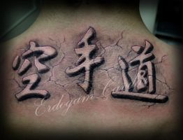 japanese writing tattoo by ErdoganCavdar