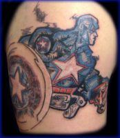 captain america tattoo by kamuyart