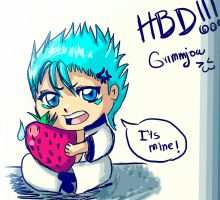 Grimmjow birthday by Kathyana