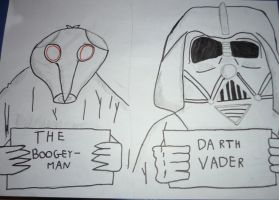 The Boogeyman and Darth Vader by Murdoc42