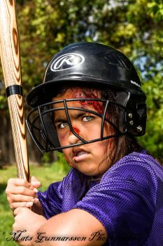 Fierce Softball player by ChefPhoto