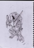 Old Skaven Drawing by Fwo0sh