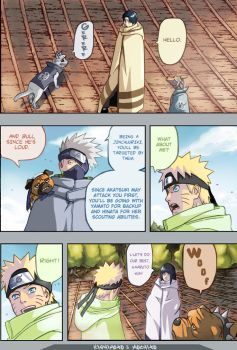 Naruto Manga Page Color by Mochito