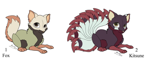 Fox and Kitsune Adopts - Adopted by Feralx1