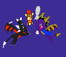 Cynder rescues Diddy Kong and Roger by SuperSmashCynderLum