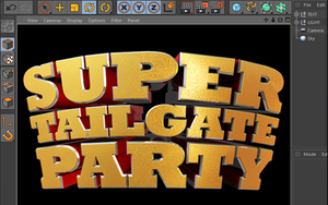 Super Tailgate Cinema 4D 3D Text File by loswl