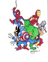 Avengers Assemble by johnnyism