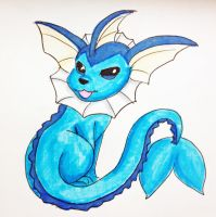 Eeveelution- Vaporeon by MousieDoodles
