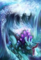 Water Dragon i by maggock