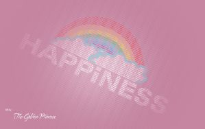 Happiness Typography .. by The-Golden-Princess