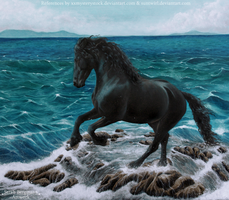 Along the shore - Acrylic Painting by BLACKNIGHTINGALE81