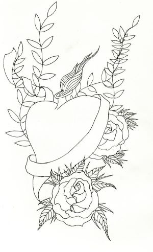 sacred heart tattoo design