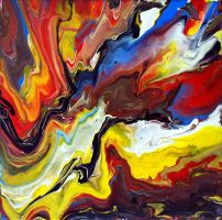 Explosive Abstract Painting by Mark-Chadwick