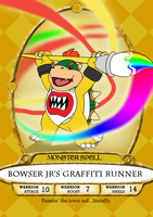 Bowser Jr's Graffiti Runner Spell Card by BennytheBeast
