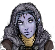 ME:2 Tali'zorah vas Normandy by bluesnyder