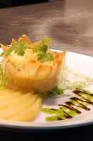 Stilton and pear tartlet by monkeyheadmushroom
