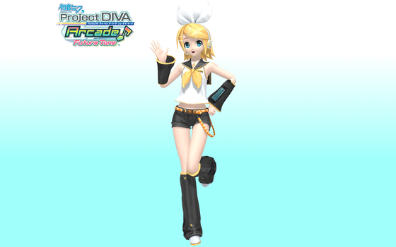 Project Diva Arcade Future Tone Default Rin by Luke-Flame