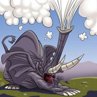 Sneezing Elephant by SuperStinkWarrior