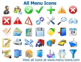 Menu Icons by shockvideoee