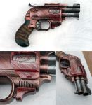 Painted Nerf Zombie Strike Doublestrike pistol by flaming-trout