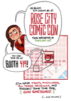 Rose City Comic Con BOOTH  419! by shoomlah