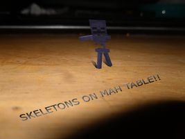 SKELETONS ON MAH TABLE by dylrocks95