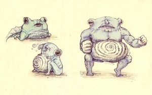 Poliwag-Poliwhirl-Poliwrath by Mianguine
