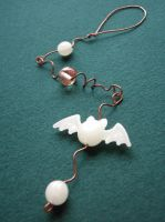 Little Glowing Bat Dangle by SneddoniaDesigns