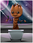 Guardians of the Galaxy- Baby Groot by Sweetochii