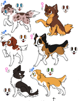 Puppy Adoptables CLOSED by BehindClosedEyes00