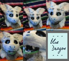 Blue dragon *SOLD* by HoneyspydeR