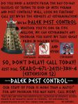 Dalek Pest Control Poster by Carthoris