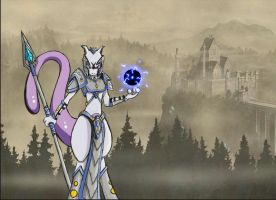 Mewtwo - Knight Armor by Yula568