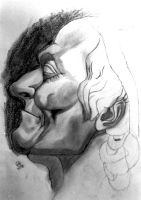 Voltaire Bust Study by icreatedesigns