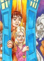 Doctor Who ATC Triptych - Panel Two by burning-thirteen