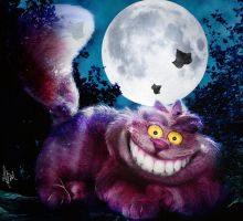 Invisible Cheshire cat by LuLebel