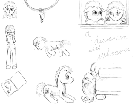 A Summer with Whooves concept sketches by DragonsAndDreamscape