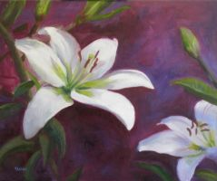 Lilies for Mother by heartMelinda
