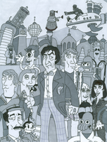 Doctor Who/ Futurama Second Doctor (With Color) by iamtherealbender