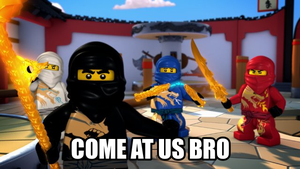 Come at me Bro #3: Ninjago by thekirbykrisis