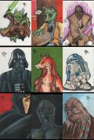 Star Wars Charity Sketchcards by MJTannacore