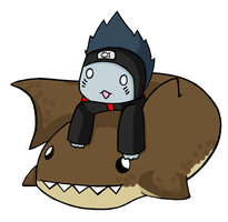 Kisame Shark Pillow Jutsu by Septic-Kitty