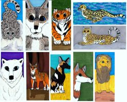 Endangered Species Bookmarks by Hyena27