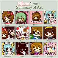 2011 Summary of Art by Pijenn