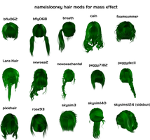 Nameislooney hair mods for xps by Padme4000