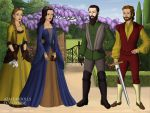 The Four Founders of Hogwarts by WhisperingWindxx