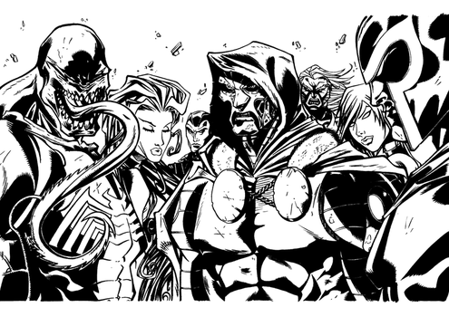 MadManiaco's Ultimates villains Ink by N0rgel